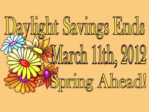 March 2012 Daylight Savings free digital signage content