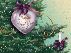 New Year Heart free digital signage content