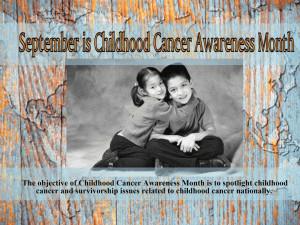 Childhood Cancer Awareness Month free digital signage content