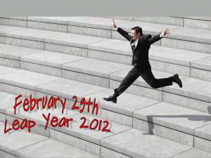 February Leap Year 2012 free digital signage content