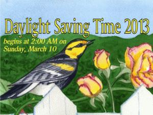 Daylight Savings Begins 2013 free digital signage content