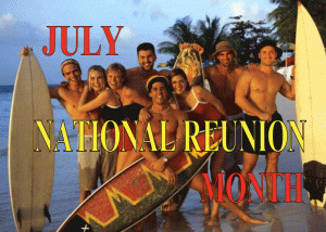 National Reunion Month free digital signage content