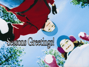 Seasons Greetings Snowballs free digital signage content