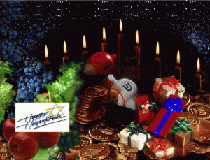 Happy Hanukkah free digital signage content
