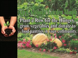 National Garden Month-April free digital signage content