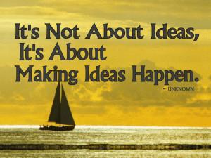 Make Ideas Happen free digital signage content