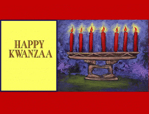Happy Kwanzaa free digital signage content