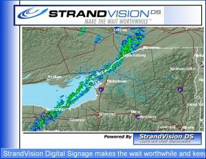 Animated Weather Radar screen