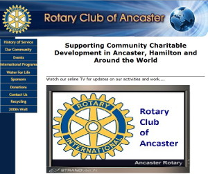 Ancaster Rotary Club uses Digital Signage on their Web Site