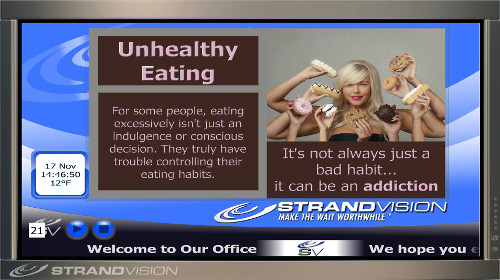health / wellness digital signage content sample