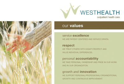 Showing Company Values