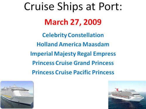 carnival, holland, princes, royal carribean cruise ships