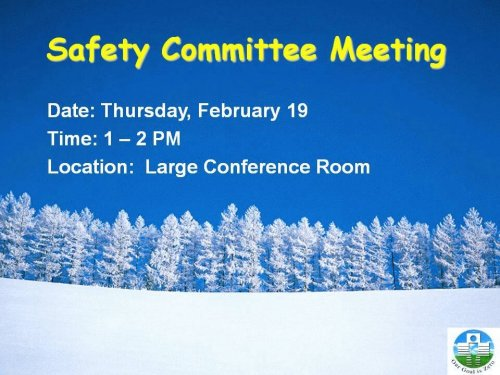 safety committee meeting notice