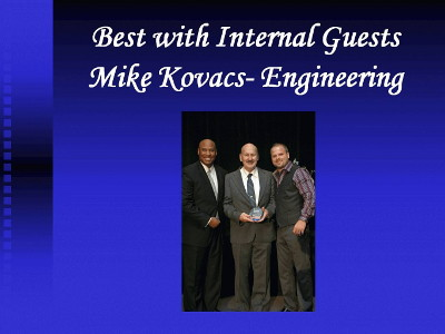 Hyatt Congratulations Mike Kovacs