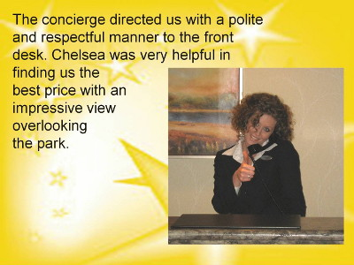 Concierge directed guests well