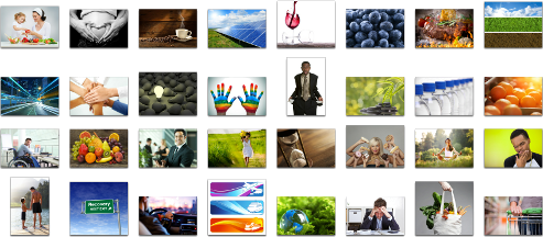 Sample images used from animated digital signage content