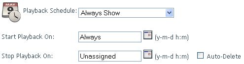 Schedule Playback of Pages