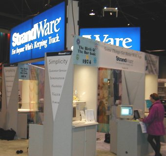 Trade Show Display Exhibit With Marketing Kiosk