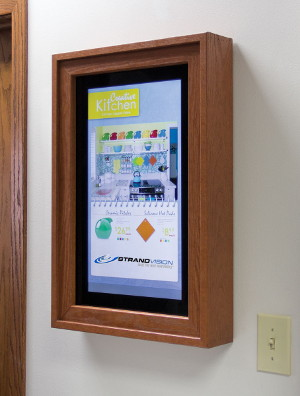 wood framed led display for electronic signage