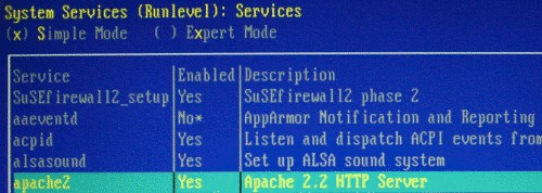 enable apache2