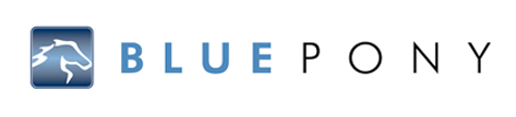 blue pony digital logo